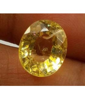 3.00 Carats Yellow Topaz 9.93 X 8.25 X 6.40 mm