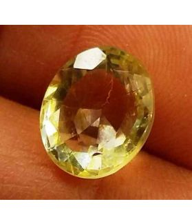 2.45 Carats Yellow Topaz 9.34 X 7.89 X 5.12 mm
