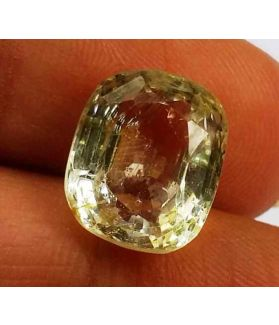 7.20 Carats Yellow Topaz 11.49 X 9.67 X 7.21 mm