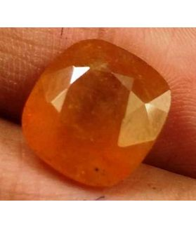 8.62 Carats African Padparadscha Sapphire 11.44 X 10.82 X 6.53 mm