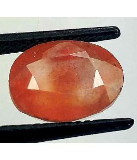 4.89 Carats African Padparadscha Sapphire 10.42 x 8.09 x 5.93 mm