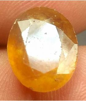 7.64 Carats African Padparadscha Sapphire 12.46 x 10.23 x 5.67 mm
