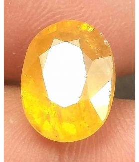 6.65 Carats African Yellow Sapphire 11.90 x 9.15 x 6.70 mm
