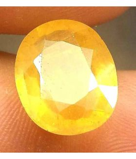 8.35 Carats African Yellow Sapphire 13.78 x 11.40 x 5.50 mm