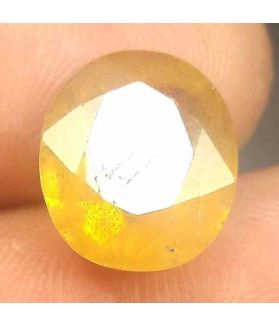 8.27 Carats African Yellow Sapphire 12.90 x 11.15 x 6.25 mm