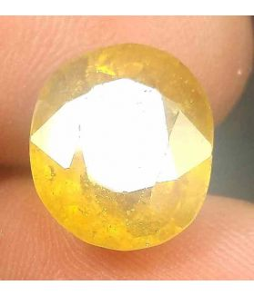 10.45 Carats African Yellow Sapphire 13.33 x 1.37 x 6.95 mm