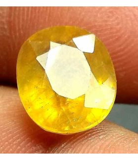6.73 Carats African Yellow Sapphire 11.25 x 9.57 x 6.65 mm