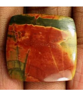 18.9 Carats Cherry Creek Jasper 21.67 x 22.31 x 3.86 mm