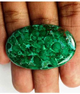 57.1 Carats Chrysocolla Malachite 40.45 x 25.54 x 5.04 mm