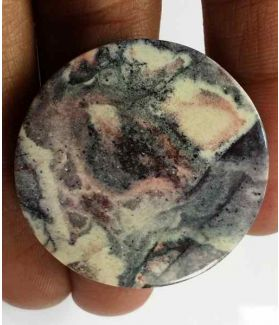 41.8 Carats Mexicon Porcelain Jasper 31.49 x 31.19 x 4.39 mm