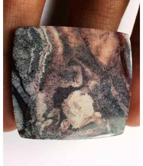 46.35 Carats Mexicon Porcelain Jasper 30.24 x 29.17 x 4.60 mm