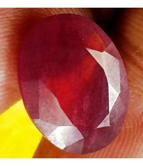 8.09 Carats Mozambique Ruby  14.97 x 11.31 x 4.53 mm