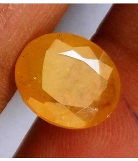 4.01 Carats Yellow Sapphire 10.52 x 8.77 x 3.84 mm