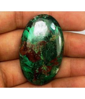 63.69 Carats Chrysocolla 38.73 x 24.30 x 6.10 mm