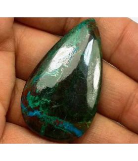 56.74 Carats Chrysocolla 40.01 x 23.65 x 5.68 mm
