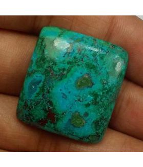 38.92 Carats Chrysocolla 25.90 x 23.66 x 6.35 mm