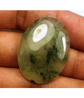 32.84 Carat Green Russian Federation Prehnite 30.04 x 22.82 x 5.84 mm