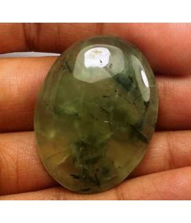 57.66 Carat Green Russian Federation Prehnite 34.30 x 26.23 x 7.16 mm
