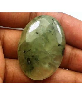 58 Carat Green Russian Federation Prehnite 36.42 x 25.61 x 6.61 mm