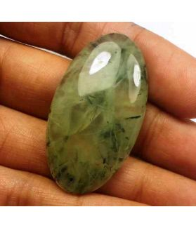 55.45 Carat Green Russian Federation Prehnite 40.51 x 22.31 x 6.77 mm