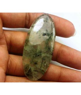 52.63 Carat Green Russian Federation Prehnite 52.26 x 22.70 x 4.51 mm