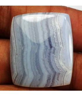 22.66 Carat Blue Turkey Blue Lace Agate 25.78 x 21.89 x 3.94 mm