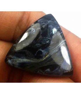 18.45 Carat Blue Africa Pietersite 22.68 x 22.37 x 4.93 mm