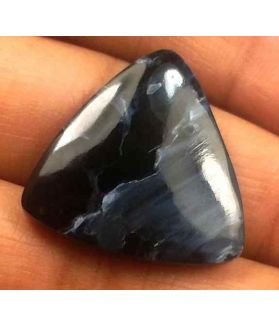 16.25 Carat Blue Africa Pietersite 22.05 x 21.45 x 4.29 mm