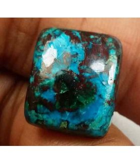 9.59 Carats Chrysocolla 14.61 x 12.54 x 5.11 mm