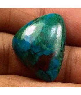 16.27 Carats Chrysocolla 18.84 x 17.80 x 6.07 mm