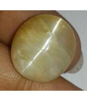 13.19 Carat Creamish White Kanak Khet Chrysoberyl Cat's Eye 16.00 x 14.30 x 9.61 mm