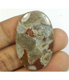 31.52 Carats Mushroom Rhyolite 37.30 x 33.92 x 4.09 mm