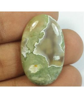 15.06 Carats Rhyolite Rainforest Jasper 27.96 x 17.06 x 4.12 mm
