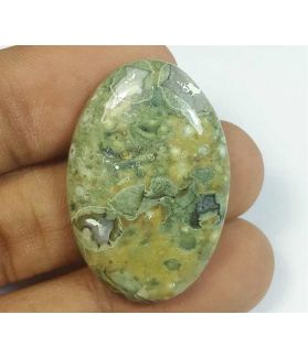33.83 Carats Rhyolite Rainforest Jasper 33.12 x 21.447.42 mm