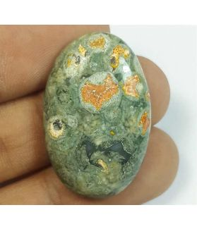 27.49 Carats Rhyolite Rainforest Jasper 43.19 x 22.52 x 5.70 mm