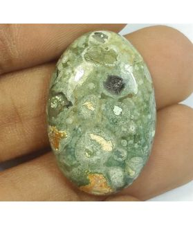 20.21 Carats Rhyolite Rainforest Jasper 28.48 x 18.93 x 5.83 mm