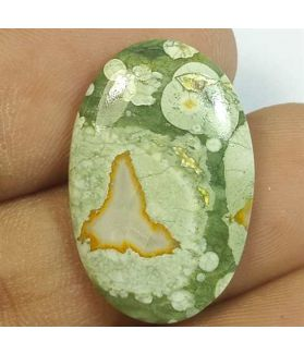 8.93 Carats Rhyolite Rainforest Jasper 23.68 x 15.62 x 3.32 mm