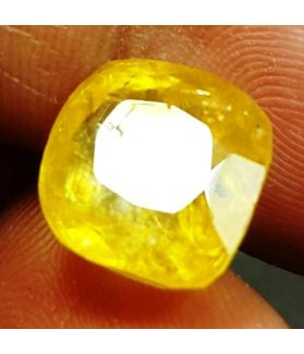 9.57 Carats Yellow Sapphire  12.08 x 11.10 x 6.52 mm