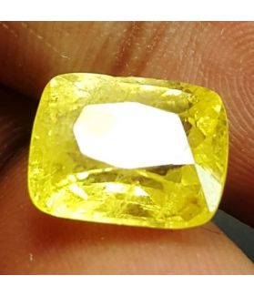 6.33 Carats Yellow Sapphire  11.36 x 8.74 x 6.05 mm