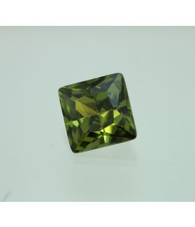 14 Carats Olive Green Cubic Zircon Square shape 12x12 MM