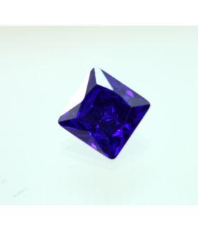 8 Carats Blue Cubic Zircon Square shape 10x10MM