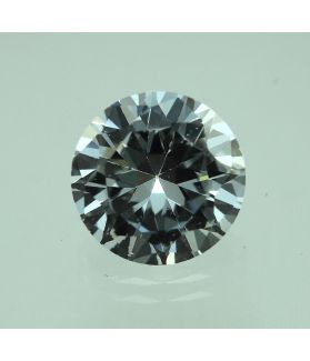 6 Carats White Cubic Zircon Round shape 9 MM