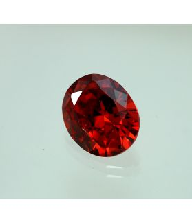 6 Carats Natural Red Cubic Zircon Oval shape 9x11 MM