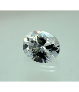 6 Carats Natural White Cubic Zircon Oval shape 9x11 MM