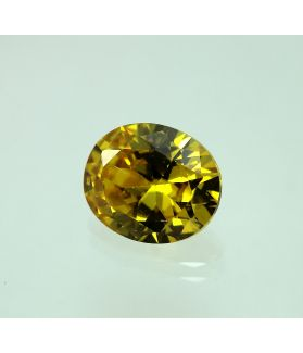 6 Carats Natural Yellow Cubic Zircon Oval shape 9x11 MM