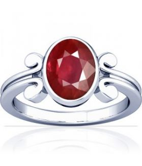 African Ruby Sterling Silver Ring - K10