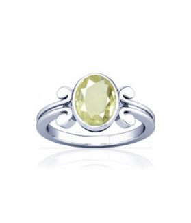 African Yellow Sapphire Sterling Silver Ring - K10