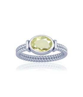 African Yellow Sapphire Sterling Silver Ring - K11