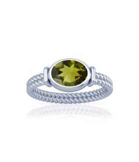Peridot Sterling Silver Ring - K11