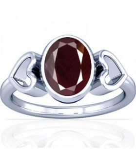 African Ruby Sterling Silver Ring - K12